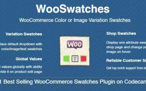 WooSwatches v2.7.11  -  WooCommerce颜色或图像变化色板