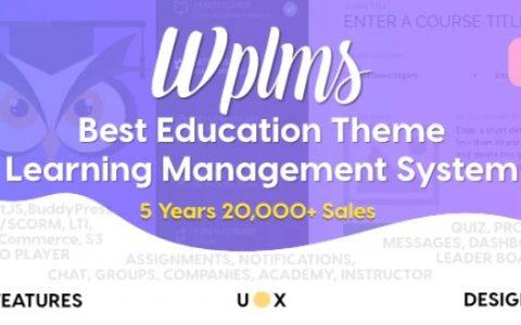 WPLMS v3.9.3.3  - 响应式教育WordPress主题