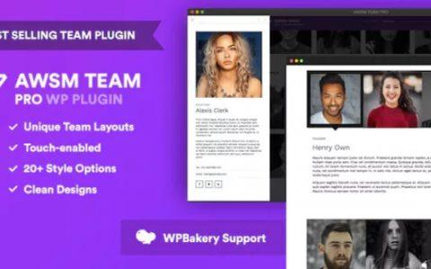 Team Pro v1.4.5  - 一个团队展示WordPress插件