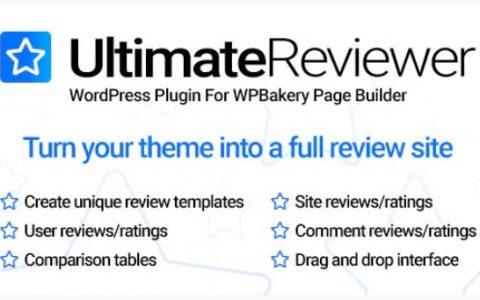 Ultimate Reviewer v1.4.3  - 用于WPBakery页面构建器的WordPress插件