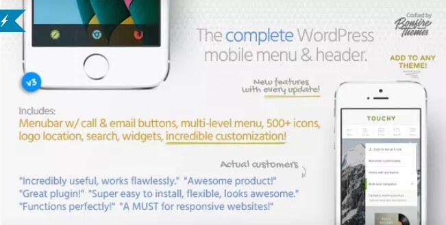 Touchy  -  WordPress移动菜单插件