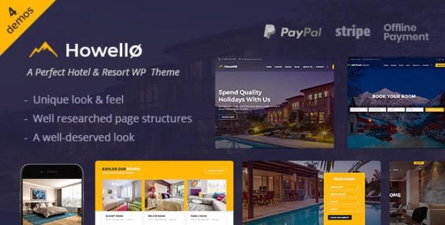Howello  - 酒店和度假村WordPress主题