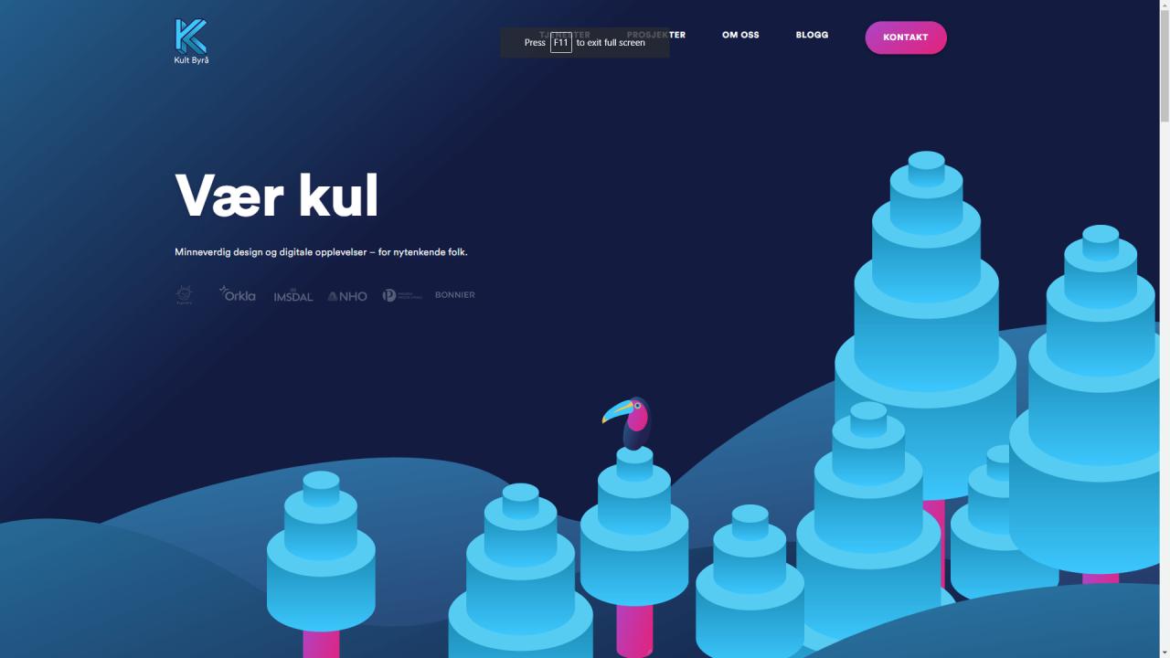 网站主页,有趣的配色方案设计。
