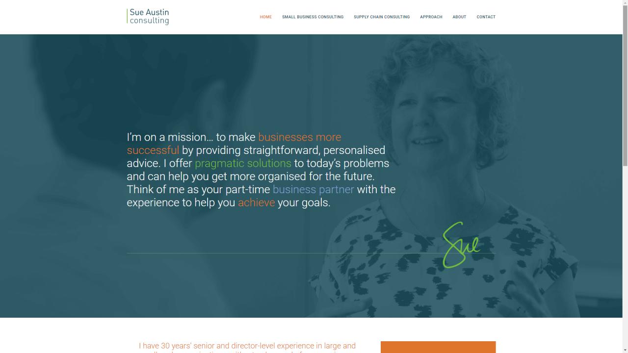 具有出色排版设计的网站主页示例。