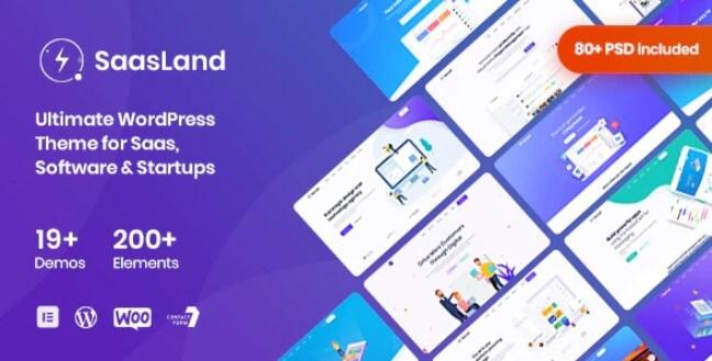 SaasLand  - 用于Saas和Startup的多功能WordPress主题