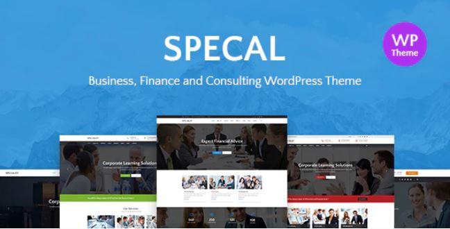 Specal  - 财务,咨询WordPress主题