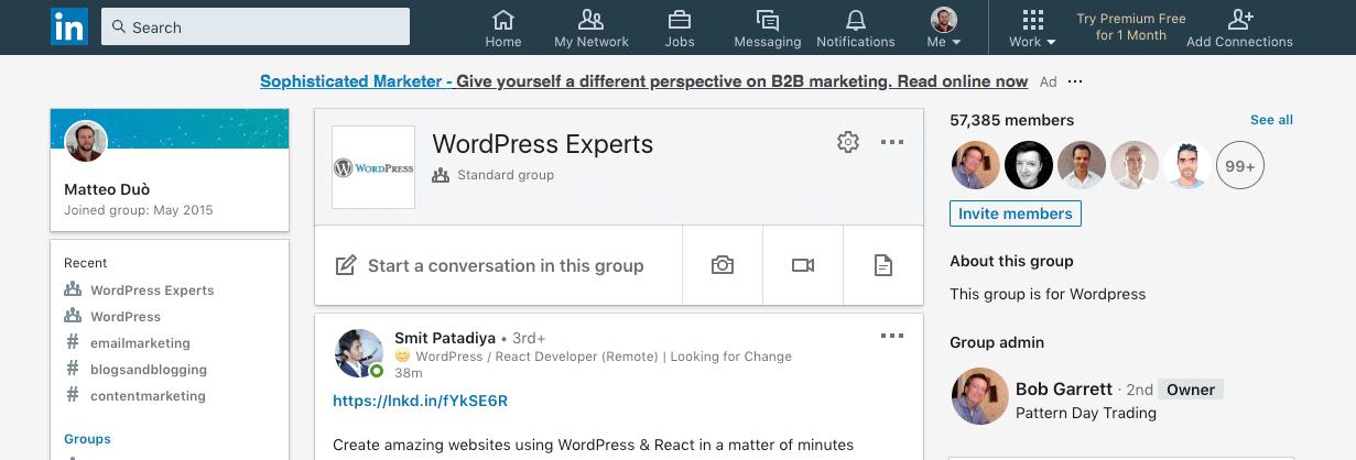 WordPress专家LinkedIn组