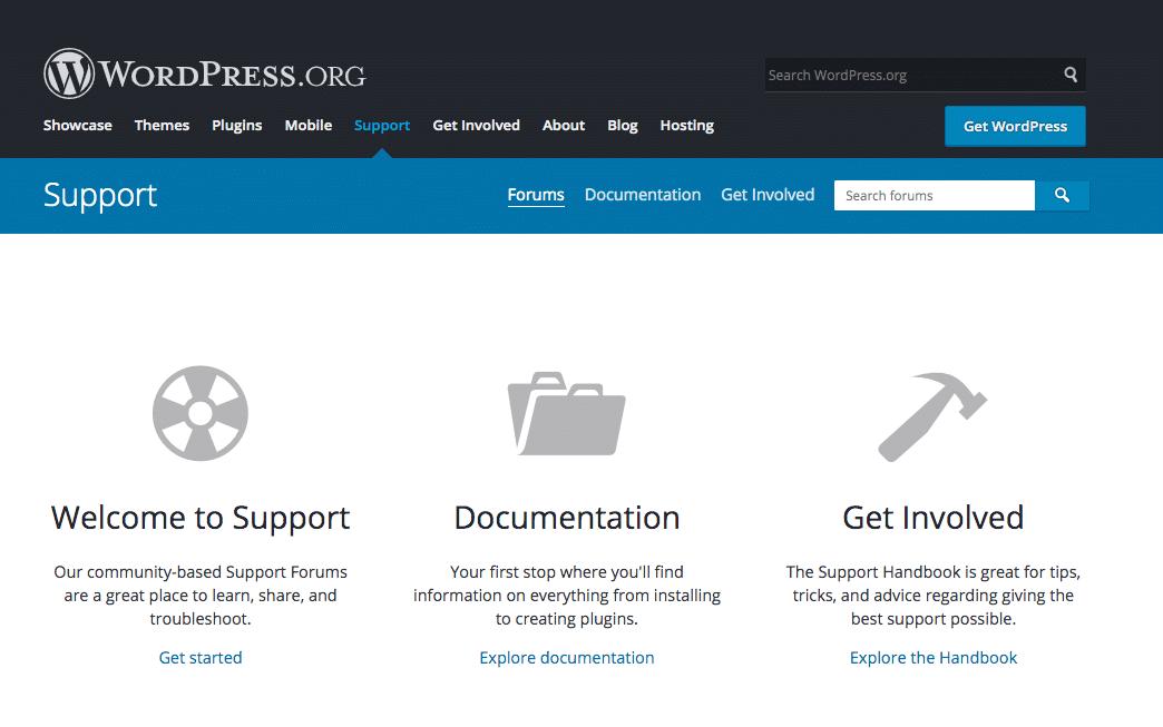 WordPress支持论坛