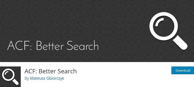 ACF更好的搜索