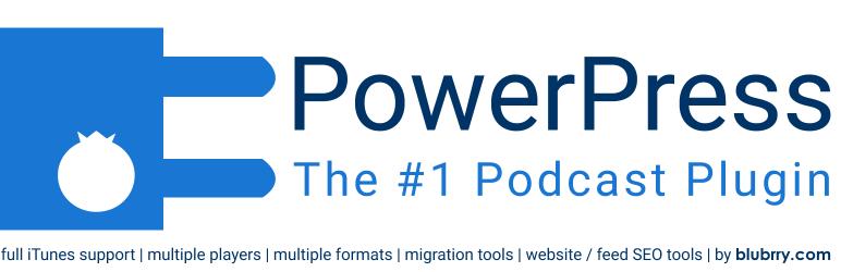 Blubrry的PowerPress Podcasting插件
