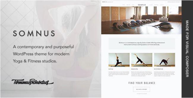 Somnus  - 瑜伽和健身工作室WordPress主题