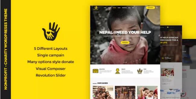 CharityHeart WordPress主题