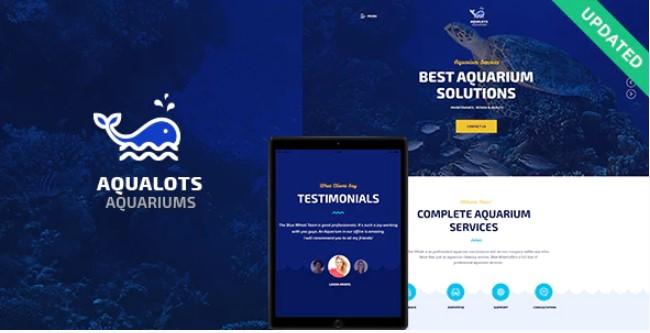 Aqualots  - 水族馆服务WordPress主题