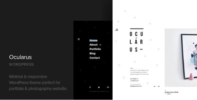 Ocularus  - 最小的摄影WordPress主题