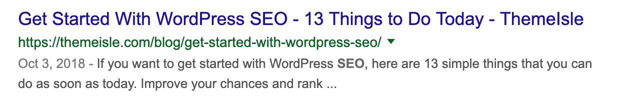 Google SERP示例(SEO Checklist Essentials)