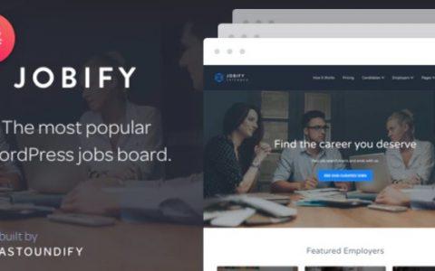 Jobify v3.12.0  - 最受欢迎的WordPress工作板主题