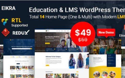 Eikra v3.7  - 响应式教育WordPress主题