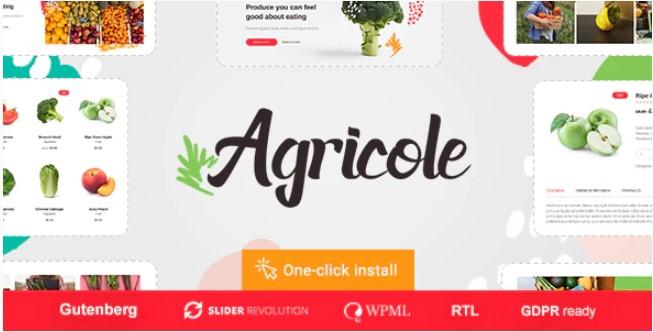 Agricole  - 有机食品和农业WordPress主题