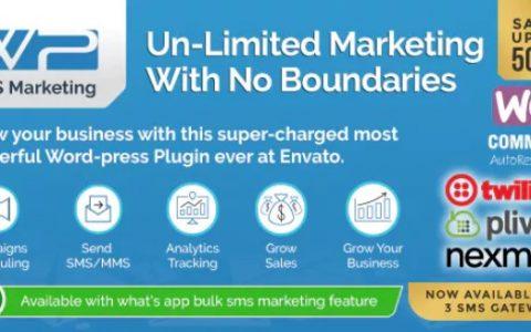 WP SMS Marketing v8.8  - 移动批量短信营销插件