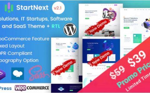 StartNext v2.1  -  IT初创公司和数字服务WordPress主题