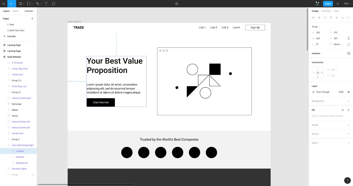 Figma免費模板