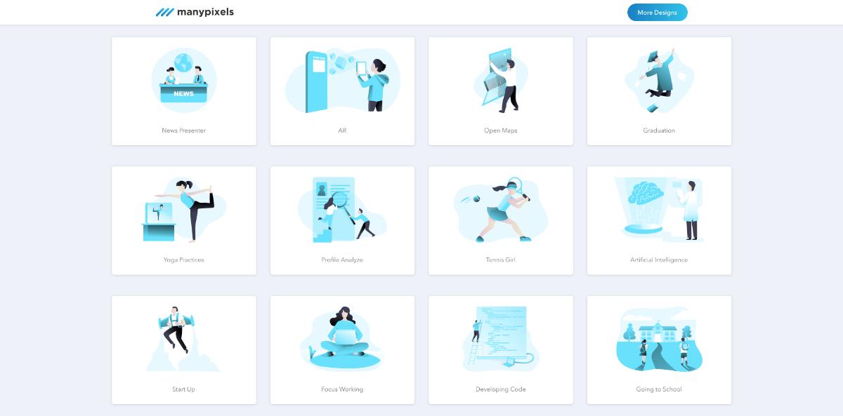 ManyPixels免费插图