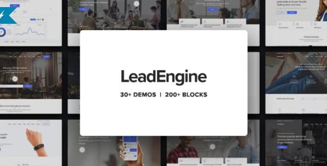 LeadEngine  - 带页面构建器的多用途WordPress主题
