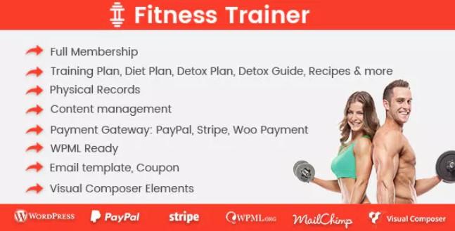 Fitness Trainer-培训会员插件
