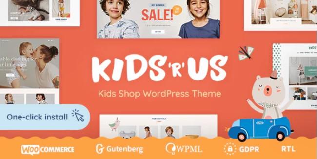 Kids R Us  - 儿童商店电子商务WordPress主题