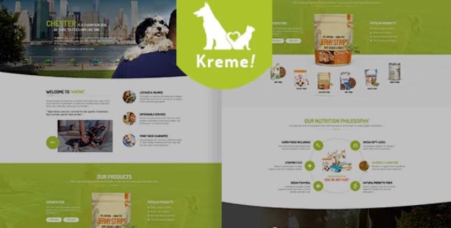 Kreme  - 宠物和商店主题