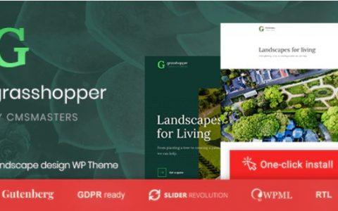 Grasshopper v1.0.4  - 景观和园艺服务WP主题