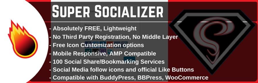 WordPress社交分享,社交登录和社交评论插件 -  Super Socializer