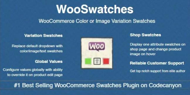 WooSwatches  -  Woocommerce颜色或图像变化色板