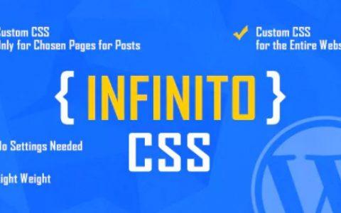 INFINITO v1.1  - 高级自定义CSS WordPress插件