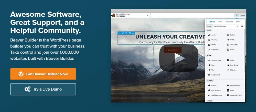 WordPress的海狸生成器