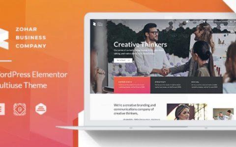 Zohar v1.0.8  -  Elementor的业务咨询WordPress主题