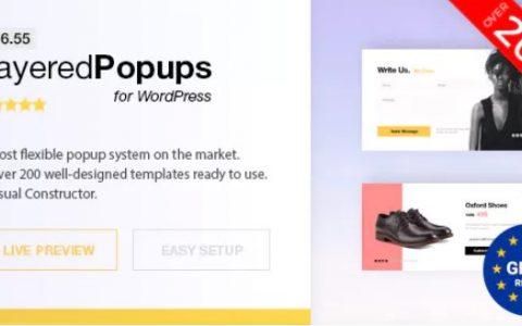 Layered Popups v6.55  -  WordPress的弹出插件
