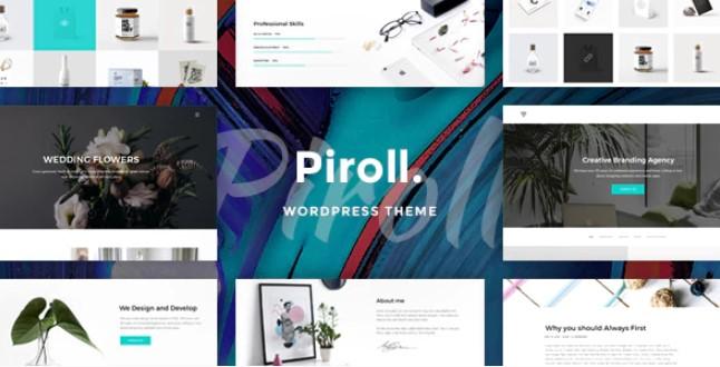 Piroll  - 投资组合WordPress主题