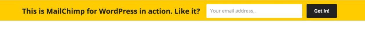 "MailChimp顶栏WordPress通知栏示例""width =""1258""height =""117"