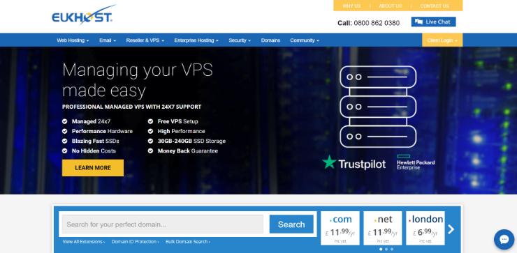 eUKhost-UK-的主网络
