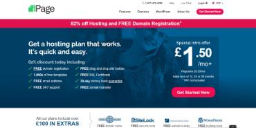的iPage的Web托管-UK