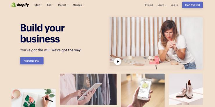 shopify为登录网站