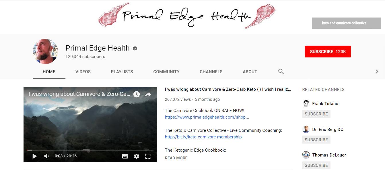YouTube上的Primal Hedge健康频道