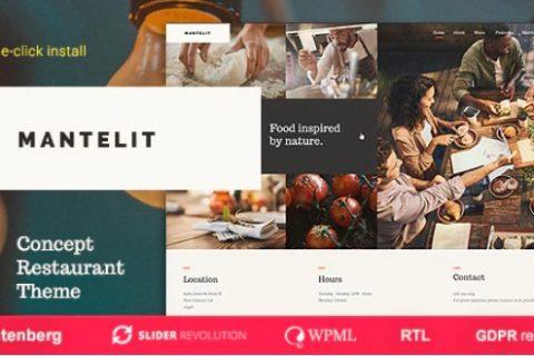 Mantelit v1.0.3  - 高级餐厅WordPress主题