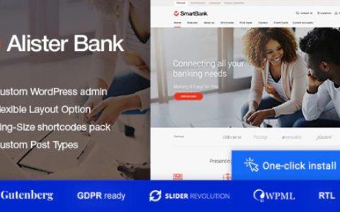 Alister Bank v1.0.7  -  Credits&Banking Finance WordPress主题