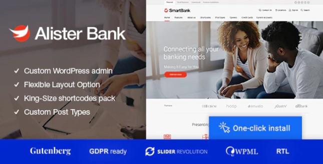 Alister Bank  - 信用和银行金融WordPress主题
