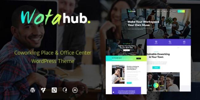 WotaHub  -  Coworking Space WordPress主题