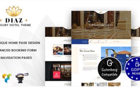 Diaz v1.7  - 酒店预订WordPress主题