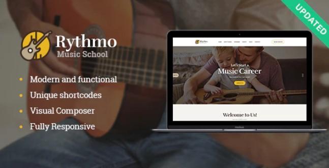 Rythmo  - 音乐学校WordPress主题