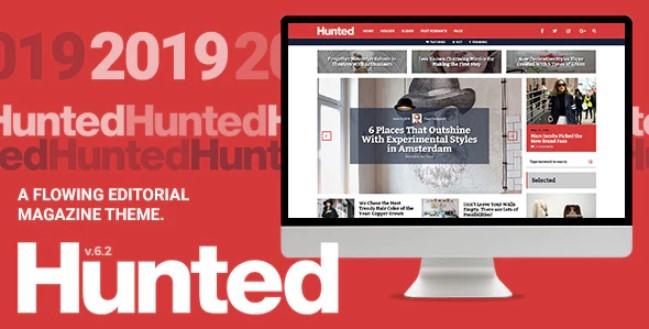 Hunted  - 一个流动的编辑杂志主题